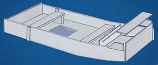 Boat benches and storage compartment