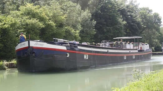 A canal barge