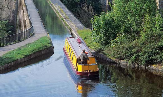 Narrowboat canal boat in UK
