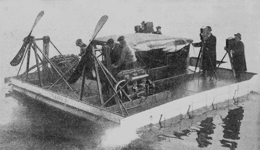 One of the first early airboats