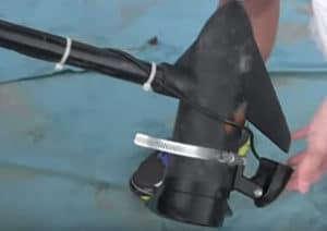 Transducer attached to trolling motor