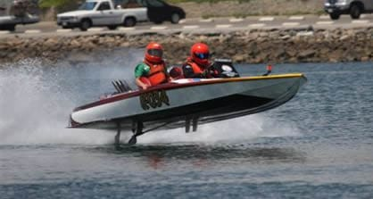 2-person flat bottom boat racing