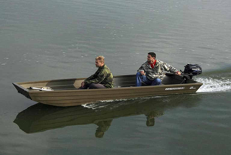14 foot Jon boat with 15hp mounted outboard motor