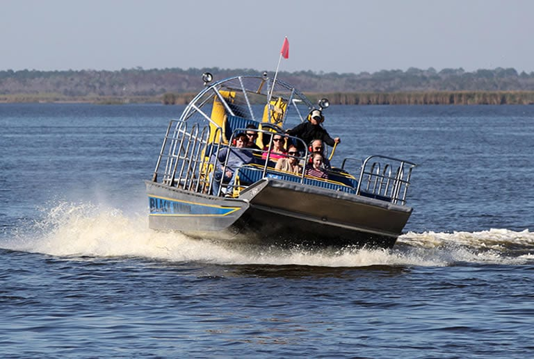 Airboat in deep water