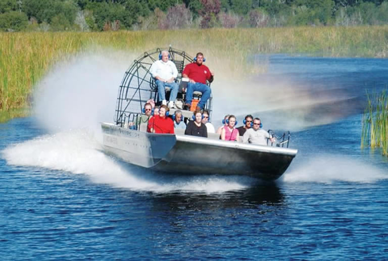 Scary airboat ride